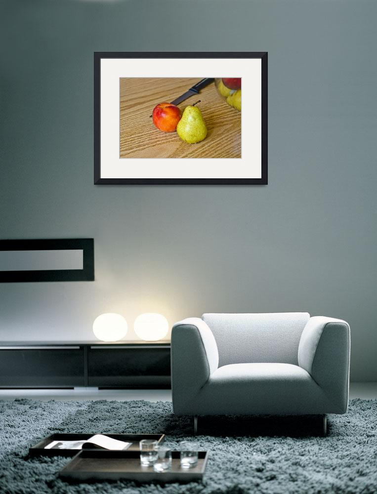 """""""Peach Pear&quot  (2014) by robnelmsphotography"""