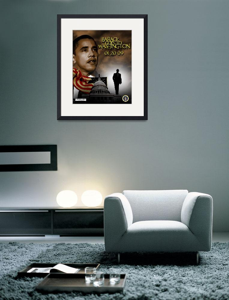 """barack goes to washington copy&quot  (2008) by vintagenblack"