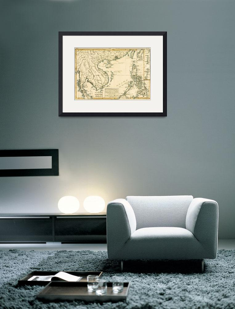 """""""Map of Asia&quot  by fineartmasters"""