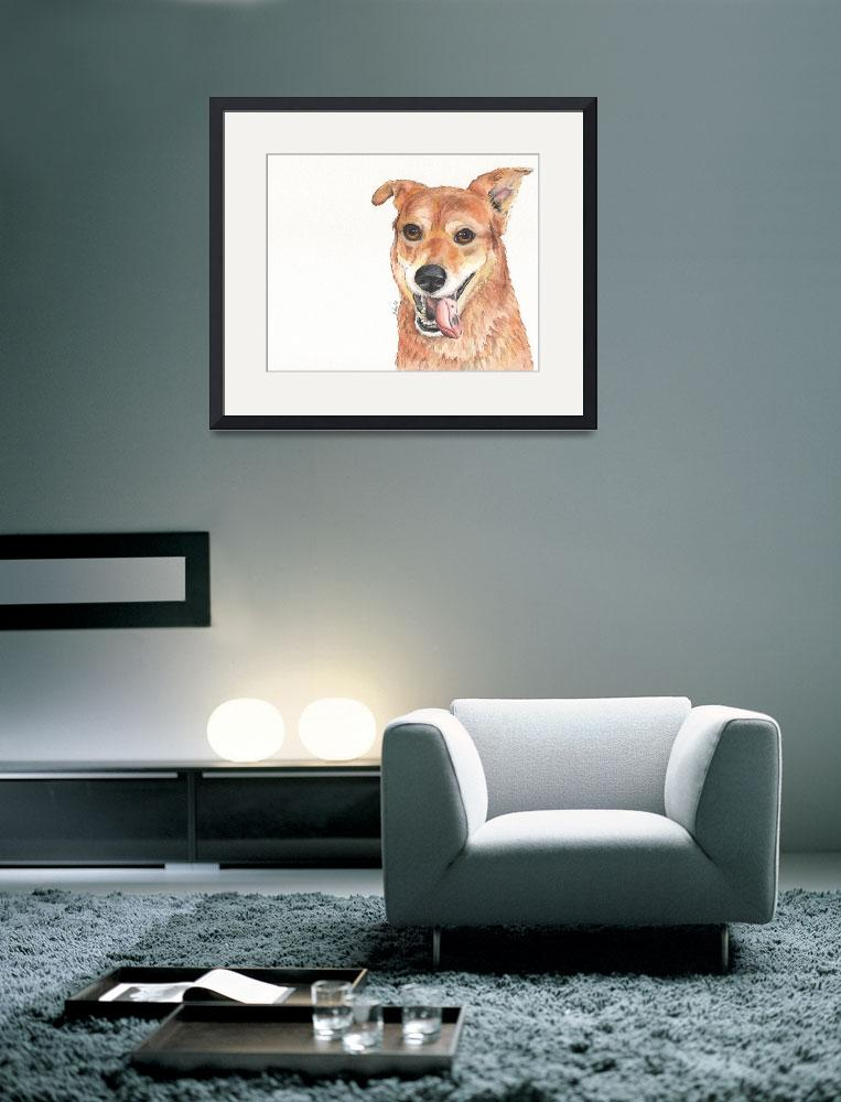 """Marny the Nurturing Nuttball Shiba Inu Mix&quot  (2014) by Designomel"
