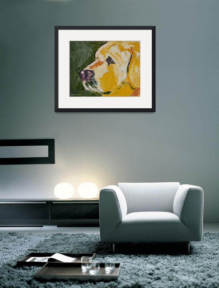 """Dogs - Dog, Yellow - Labs&quot  (2008) by KarinLauria"
