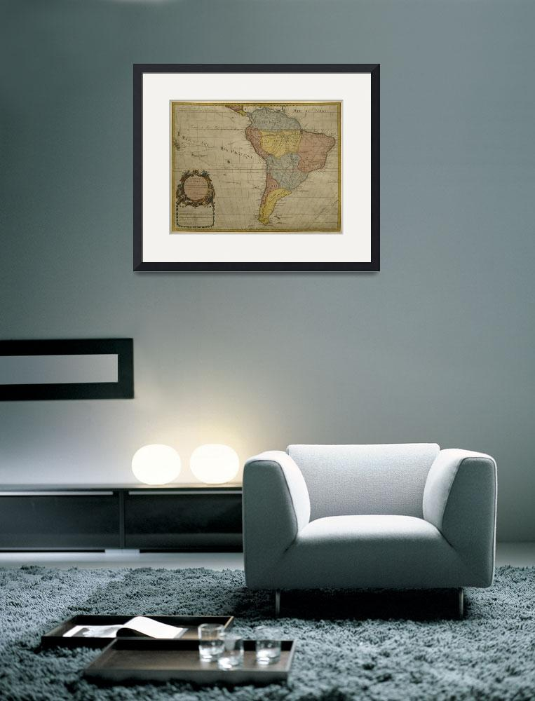 """""""Map of South America""""  by fineartmasters"""
