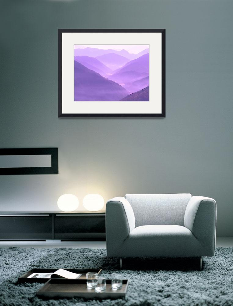 """""""Misty Hilly Mountainous Violet Terraine On Another&quot  (2013) by TheNorthernTerritory"""