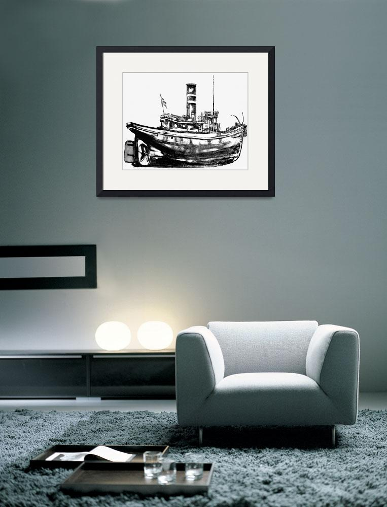 """""""Tugboats&quot  (1996) by ralphnelsen"""