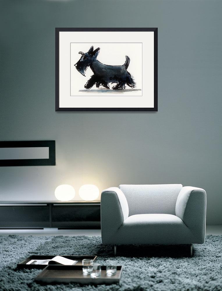 """Scottie Dog&quot  (2014) by Patch"