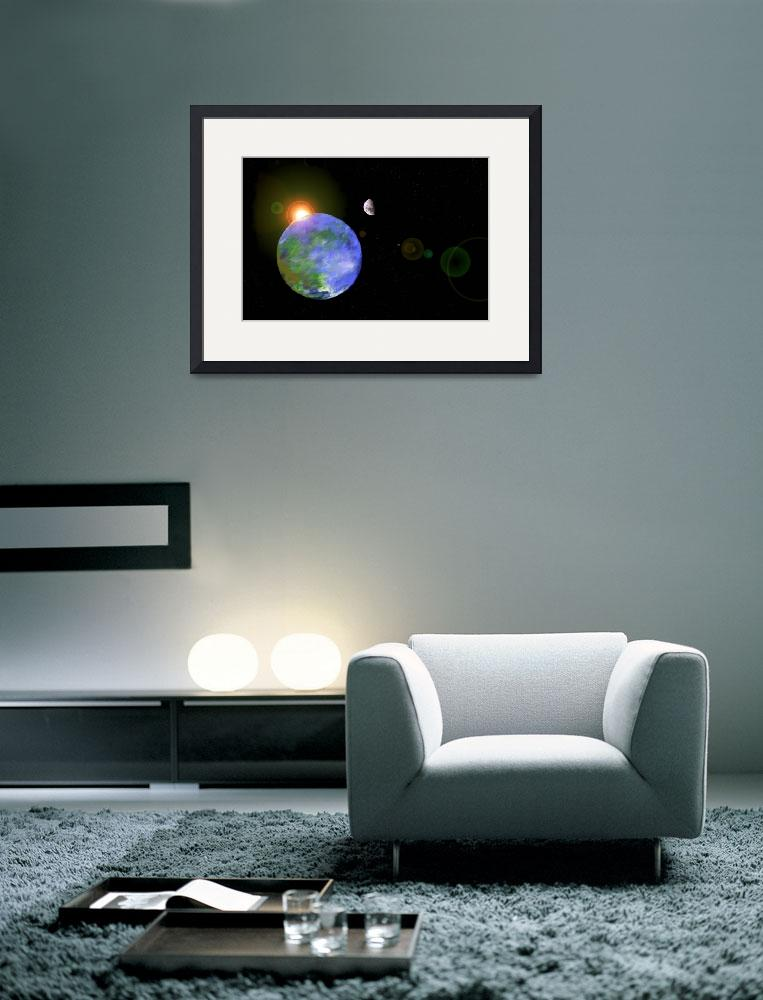 """""""Earth, Moon and Sun&quot  (2011) by LauraM"""