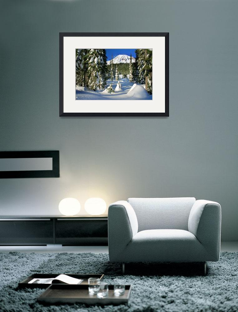 """""""Mt Rainier From Reflection Lakes In Winter""""  (2008) by Inge-Johnsson"""