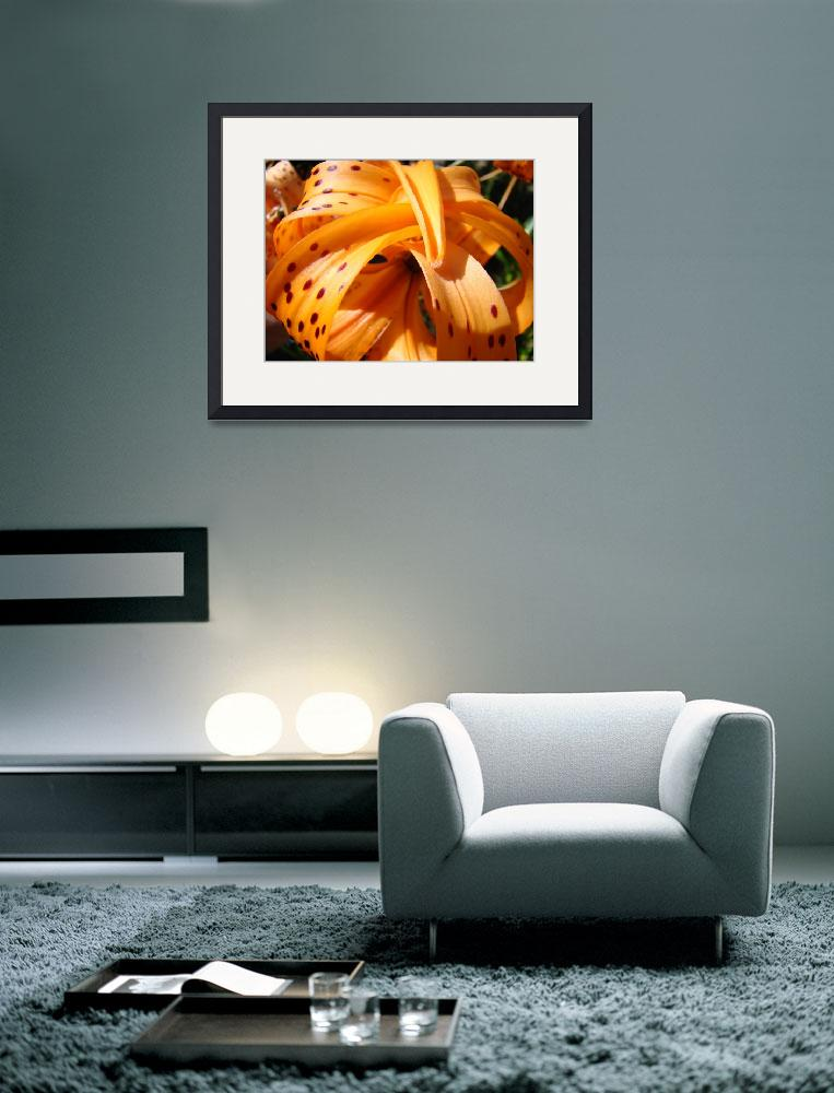 """""""OFFICE ART Tiger Lily Flower Floral Art Prints&quot  (2009) by BasleeTroutman"""