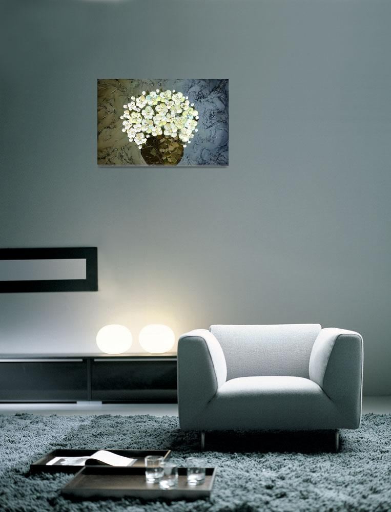 """White Flowers&quot  (2009) by modernhouseart"