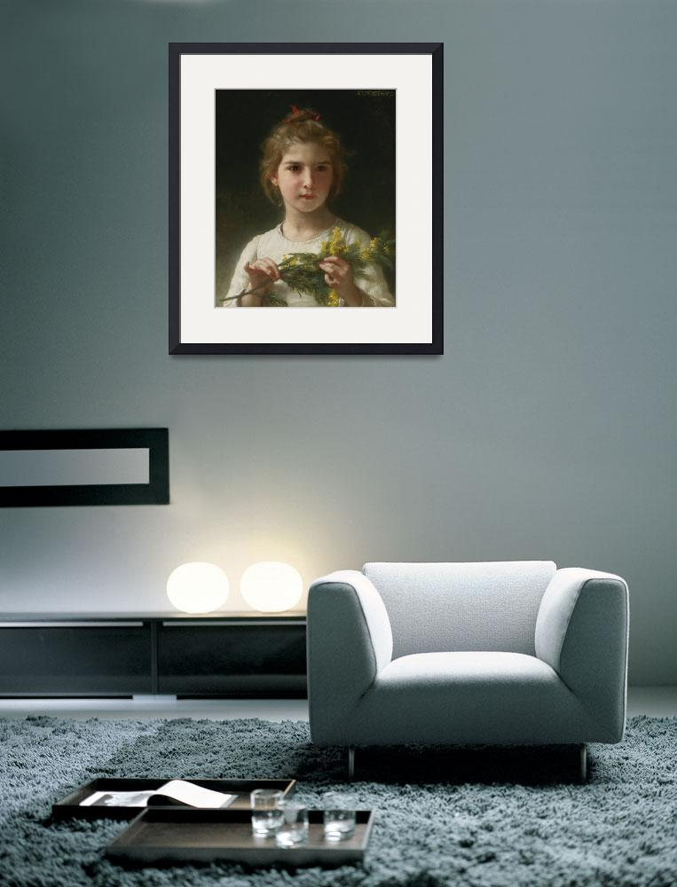 """William-Adolphe Bouguereau Art Framed Print&quot  by buddakats1"