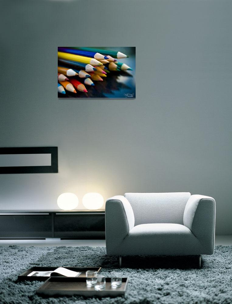 """""""COLORED PENCILS&quot  (2008) by PhilipDelos"""