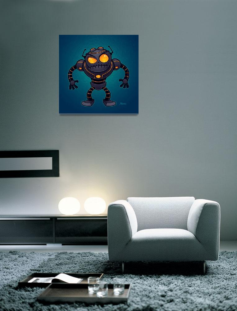 """Angry Robot""  (2012) by schwegel"