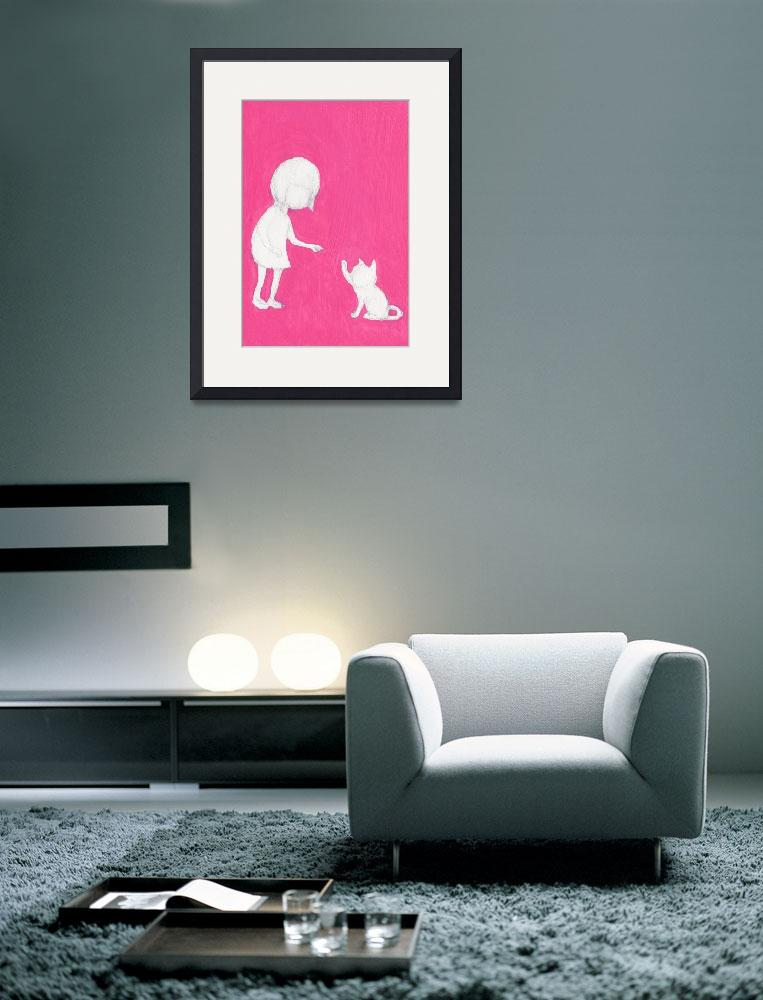 """""""Pink_girl_cat_2&quot  (2013) by francisfung"""
