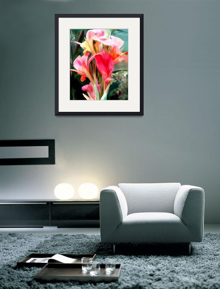 """""""Pink Cannas&quot  by ElainePlesser"""