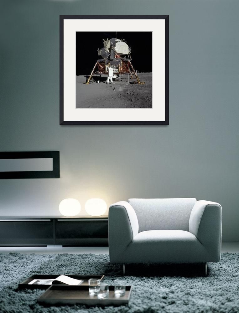 """""""An Apollo 11 astronaut in front of the lunar modul&quot  by stocktrekimages"""
