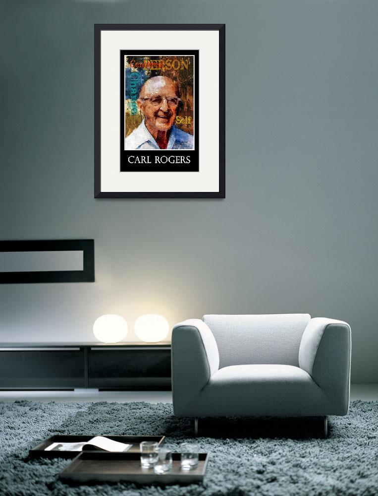 """""""Carl Rogers Poster&quot  (2013) by jerrybacik"""
