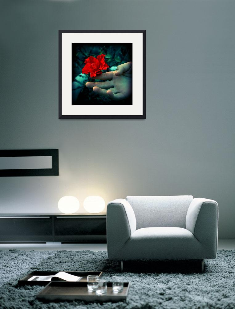 """""""Hibiscus & Hand.&quot  by SDagher"""