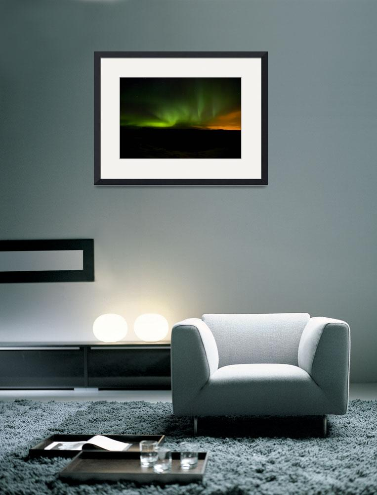 """""""Aurora in Reykjanes Peninsula #2&quot  (2009) by falconcreations"""