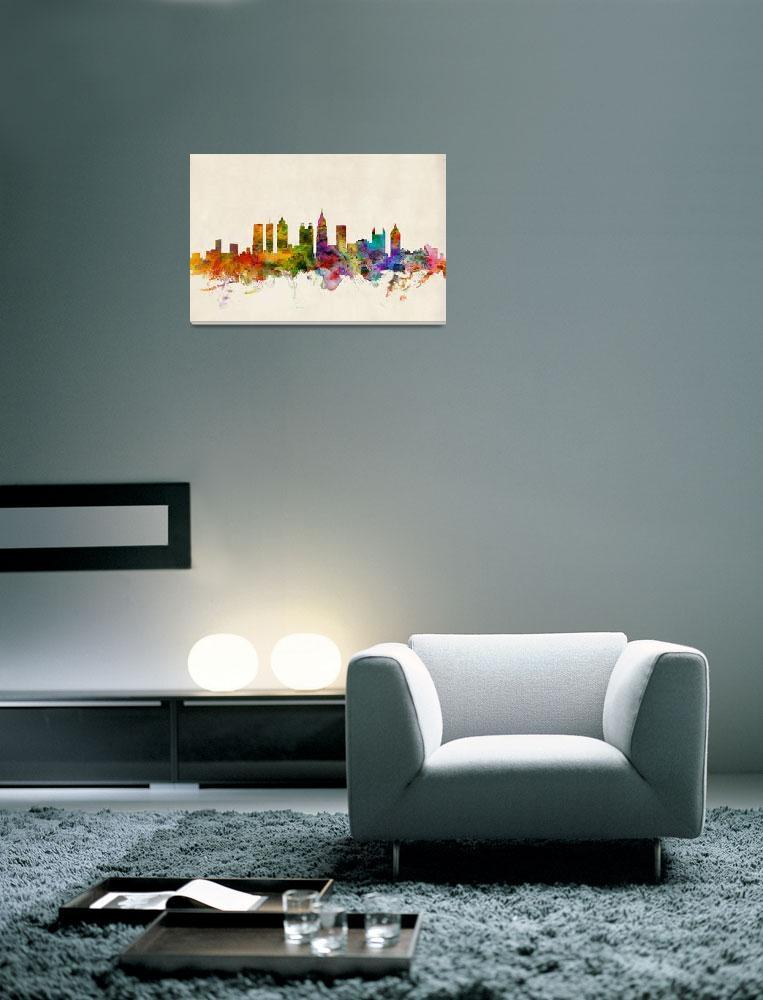 """Atlanta Georgia Skyline&quot  (2013) by ModernArtPrints"