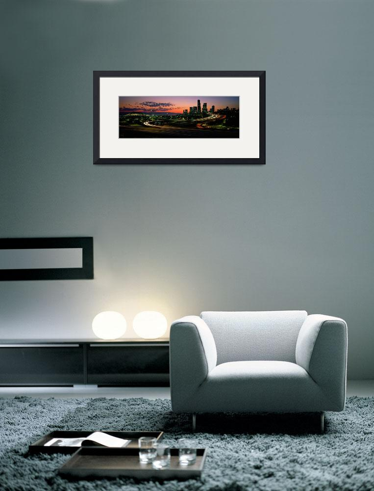 """""""Sunset Puget Sound and Seattle skyline WA""""  by Panoramic_Images"""
