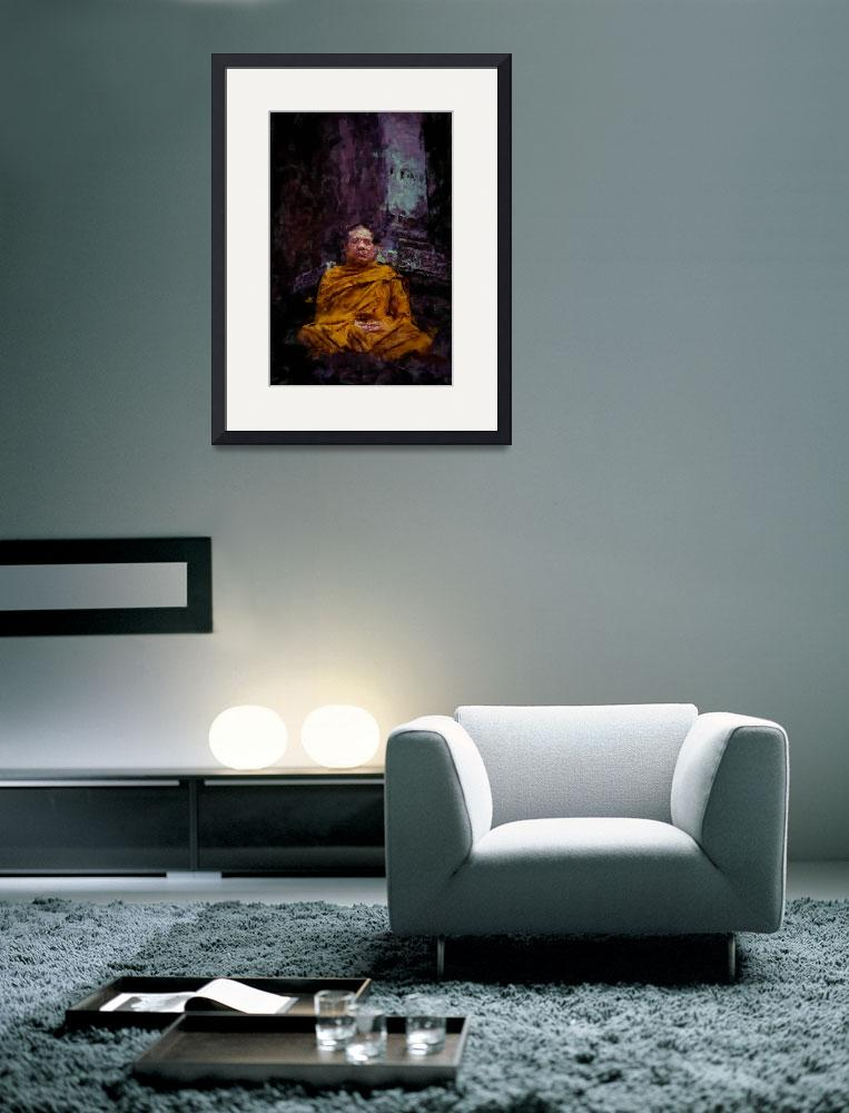 """""""Monk in meditation&quot  (2012) by StefanOlivier"""