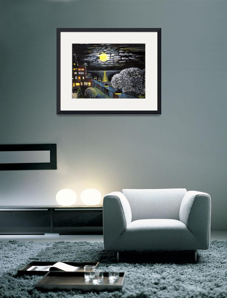 """""""Fullmoon night&quot  (2008) by lorecolore"""