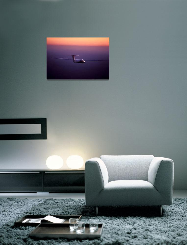 """""""Glider-Going Home at Sunset&quot  by joegemignani"""