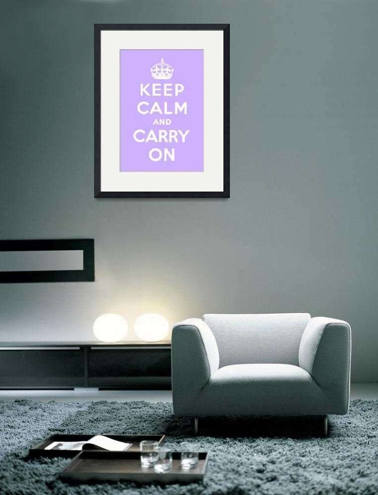 """""""Purple Keep Calm And Carry On 3&quot  by oldies"""