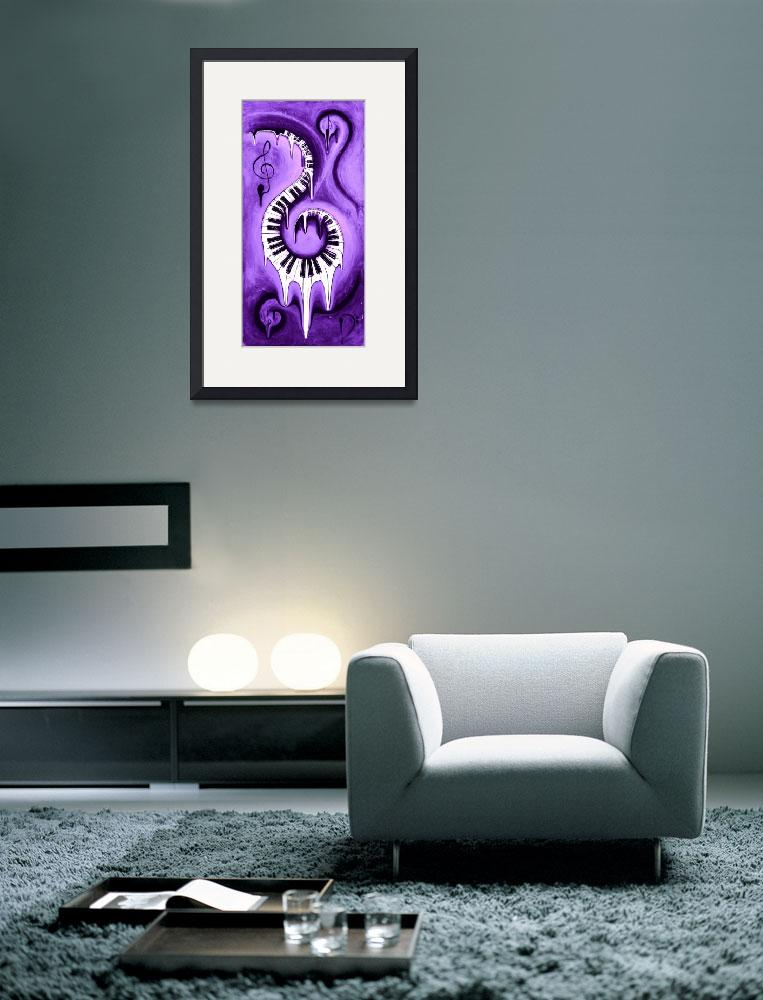"""""""Hot Purple - Swirling Piano Keys - Music In Motion&quot  by waynecantrell"""