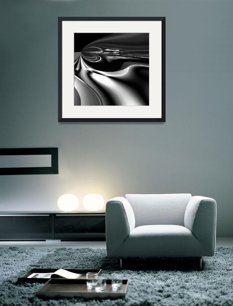 """""""Metal Silver Melt Abstract Art&quot  (2011) by shanmaree"""