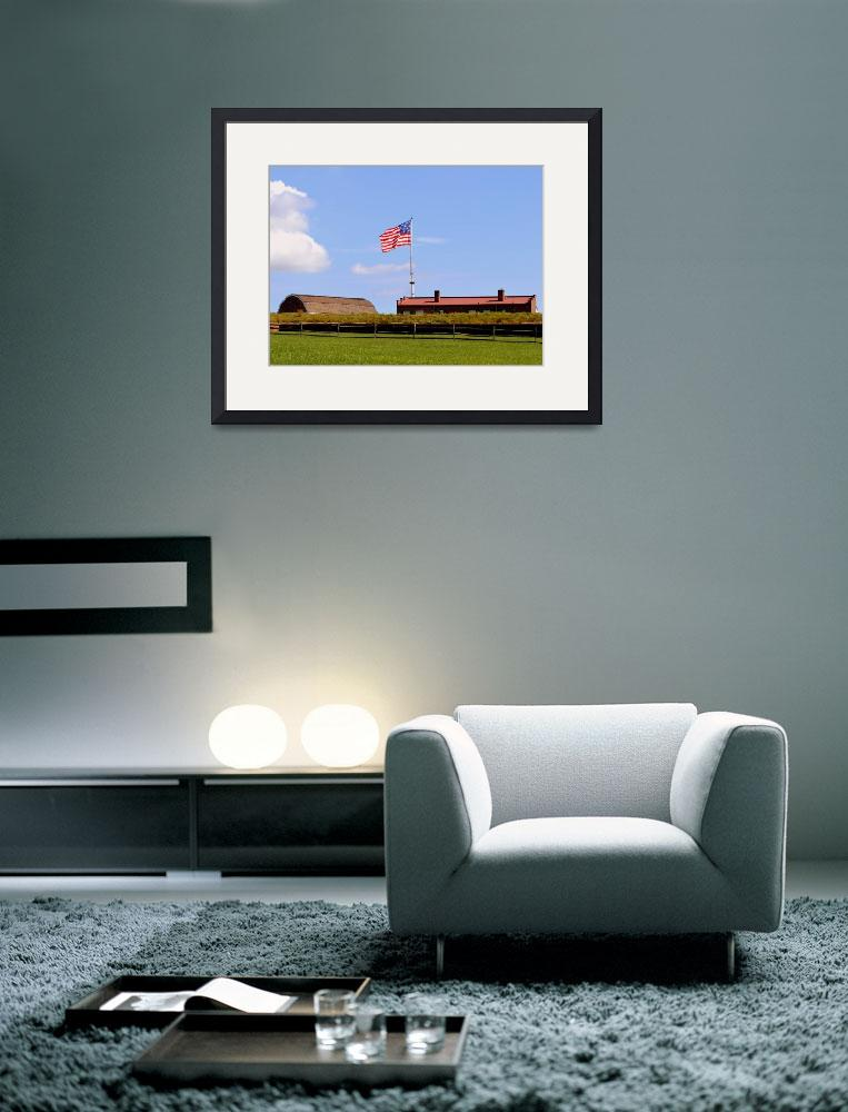 """American Flag, Magazine, Barracks at Fort McHenry&quot  by Artsart"