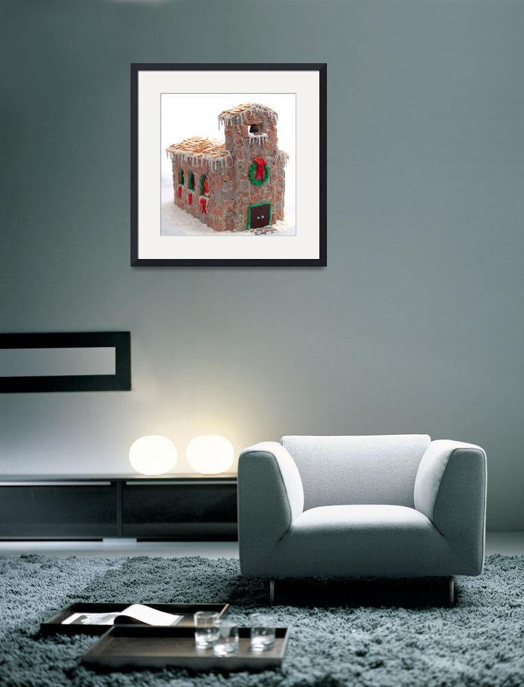 """Gingerbread Church&quot  (2008) by evansonart"
