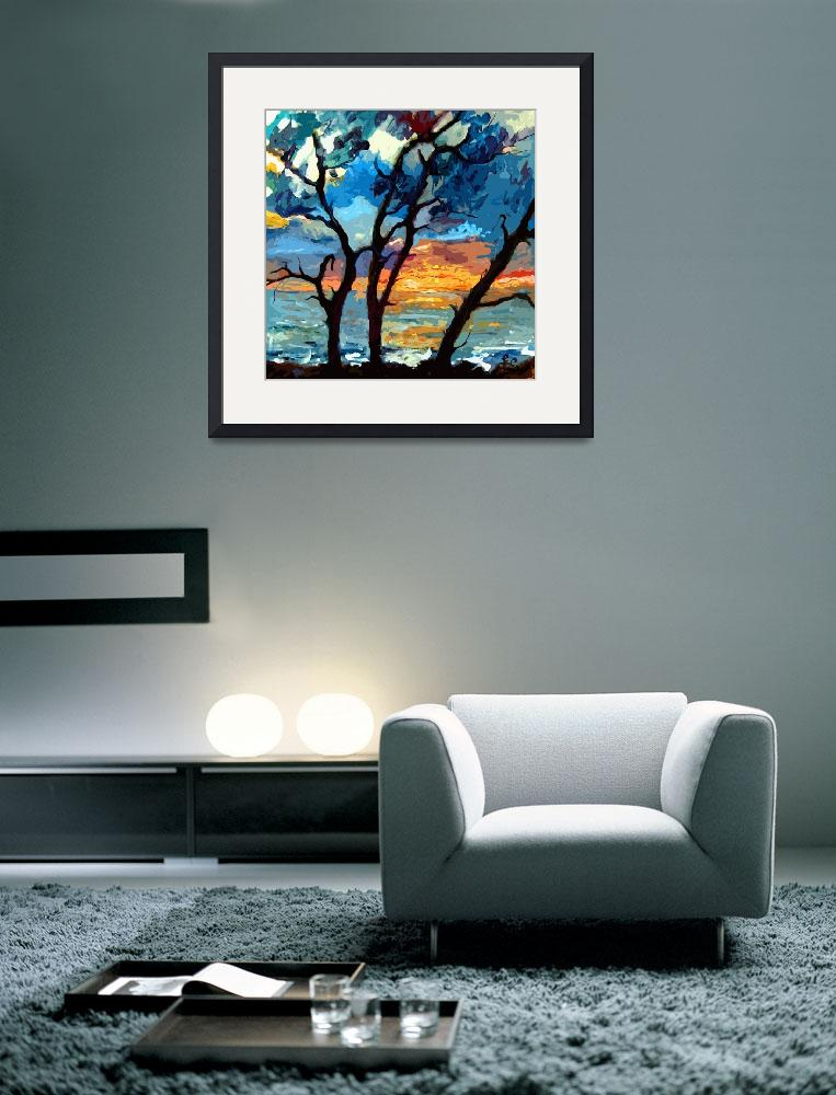 """""""Jekyll island Sunrise Modern Painting by Ginette""""  (2012) by GinetteCallaway"""