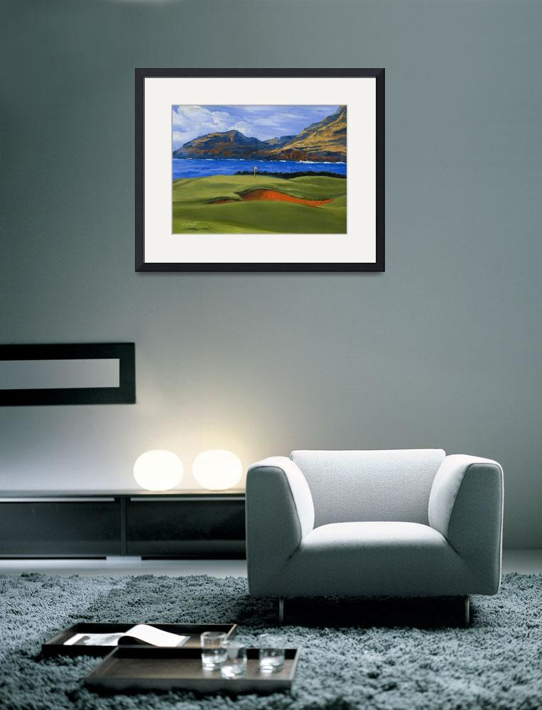 """Warren Keating Print GOLF, KAUAI LAGOONS HAWAII&quot  (2006) by KeatingArt"