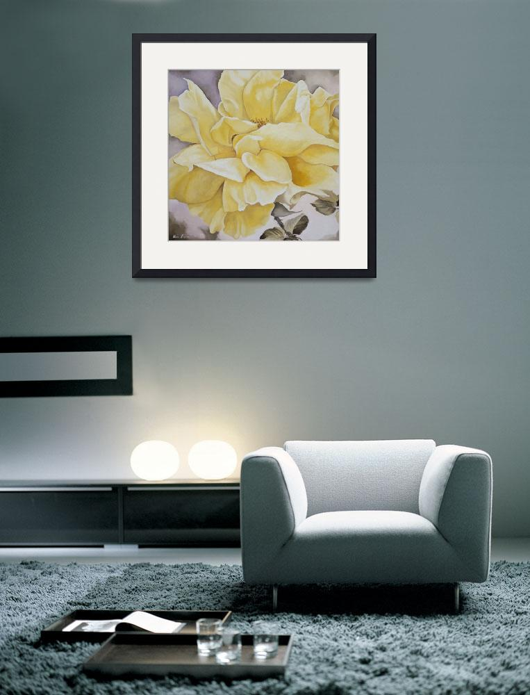 """""""Yellow Rose&quot  (1999) by whatipaint4u"""