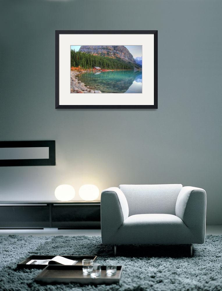 """Lake Louise Boat house, Banff National Park&quot  (2012) by EggheadLabs"