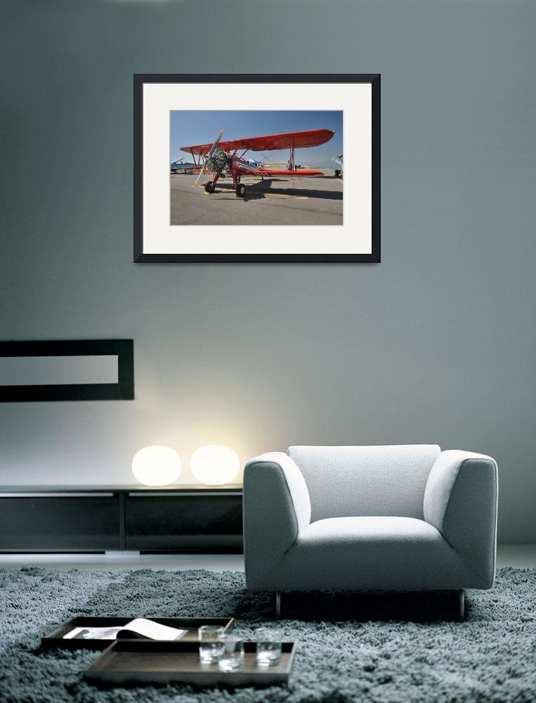 """Red Stearman Biplane&quot  (2012) by brucet"