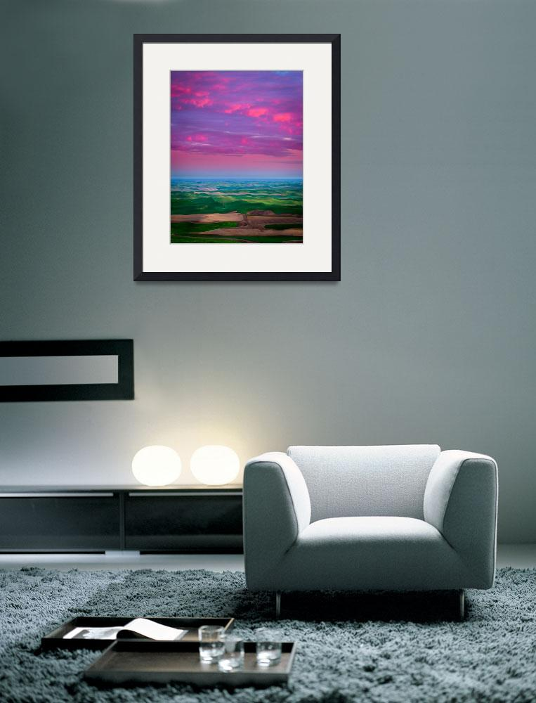 """""""Palouse Fiery Dawn&quot  (2011) by Inge-Johnsson"""