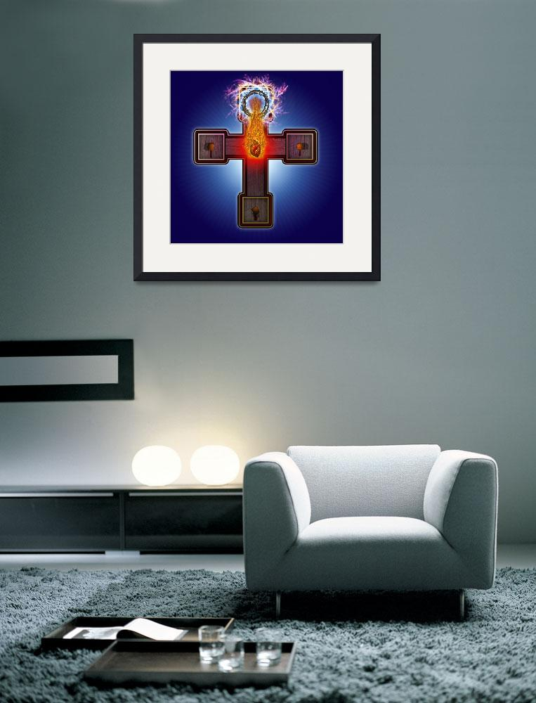"""""""Atomic Crucifix&quot  (2011) by ATOMICPENCIL"""