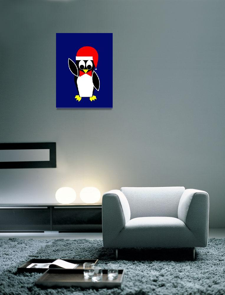 """""""Father Penguin wishes you a Merry Christmas""""  by Lonvig"""