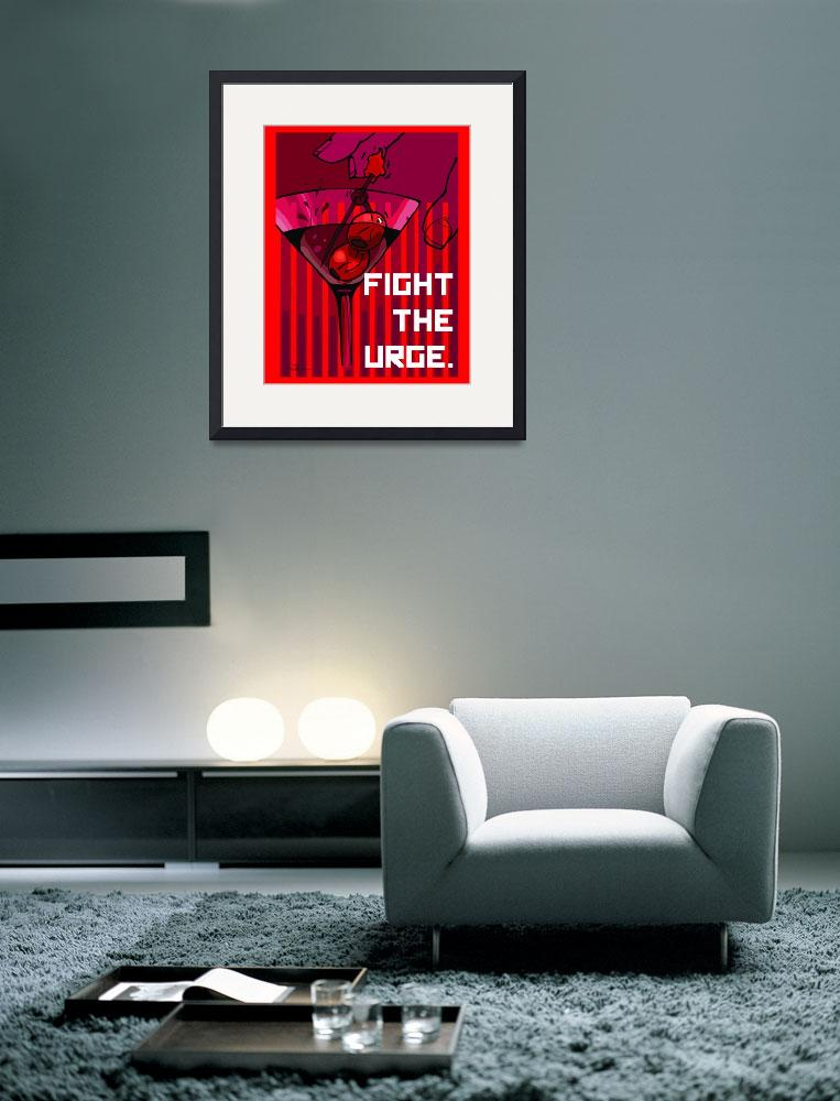 """Fight The Urge&quot  (2010) by chrisnunndesign"
