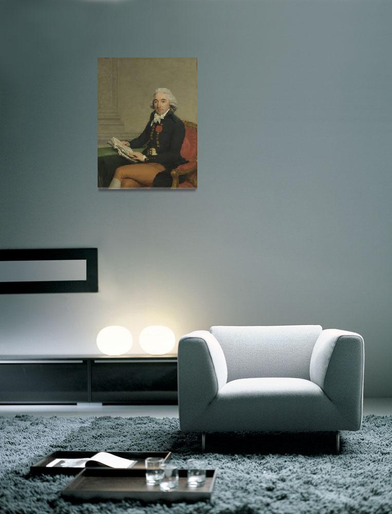 """""""Portrait of a Man, François André Vincent, c. 1795&quot  by motionage"""