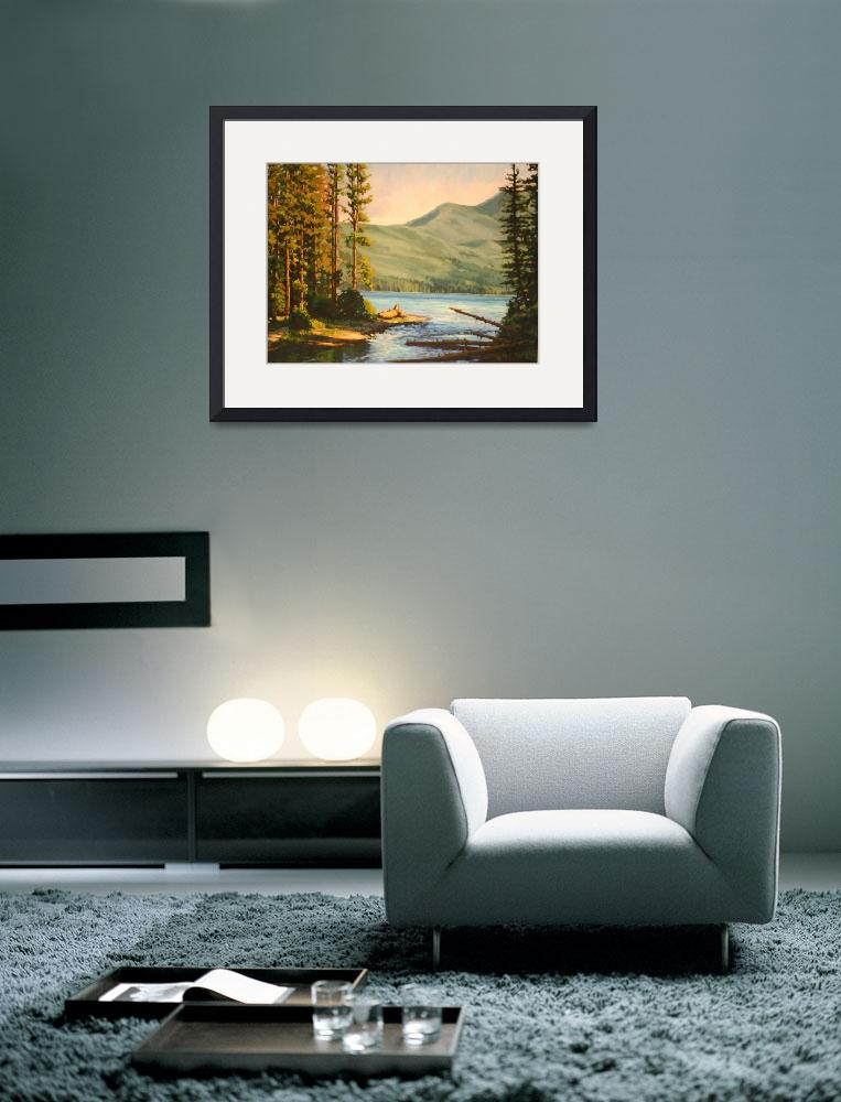 """""""Impressionistic Painting of Mountain Lake Entitled""""  (2011) by kevinmccain"""