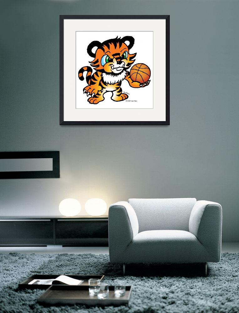 """""""Tiger Basketball""""  (2005) by ChuckClore"""