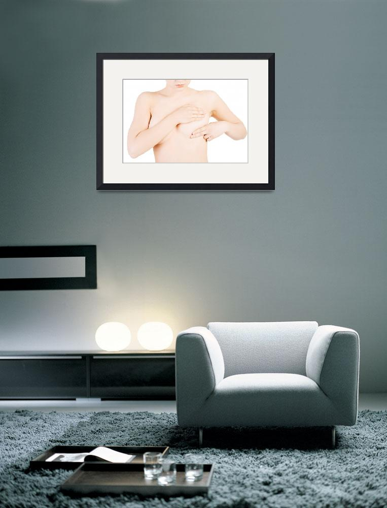 """""""Caucasian adult woman examining her breast for lum&quot  by Piotr_Marcinski"""