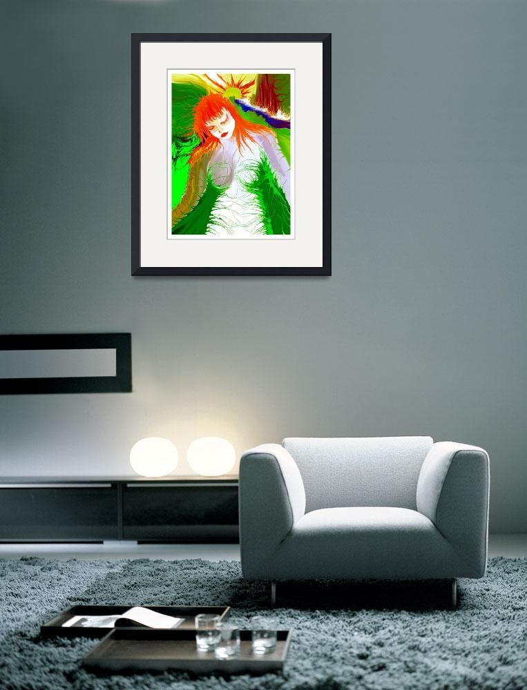 """Green Girl Red!""  (2003) by RitchardMifsud"