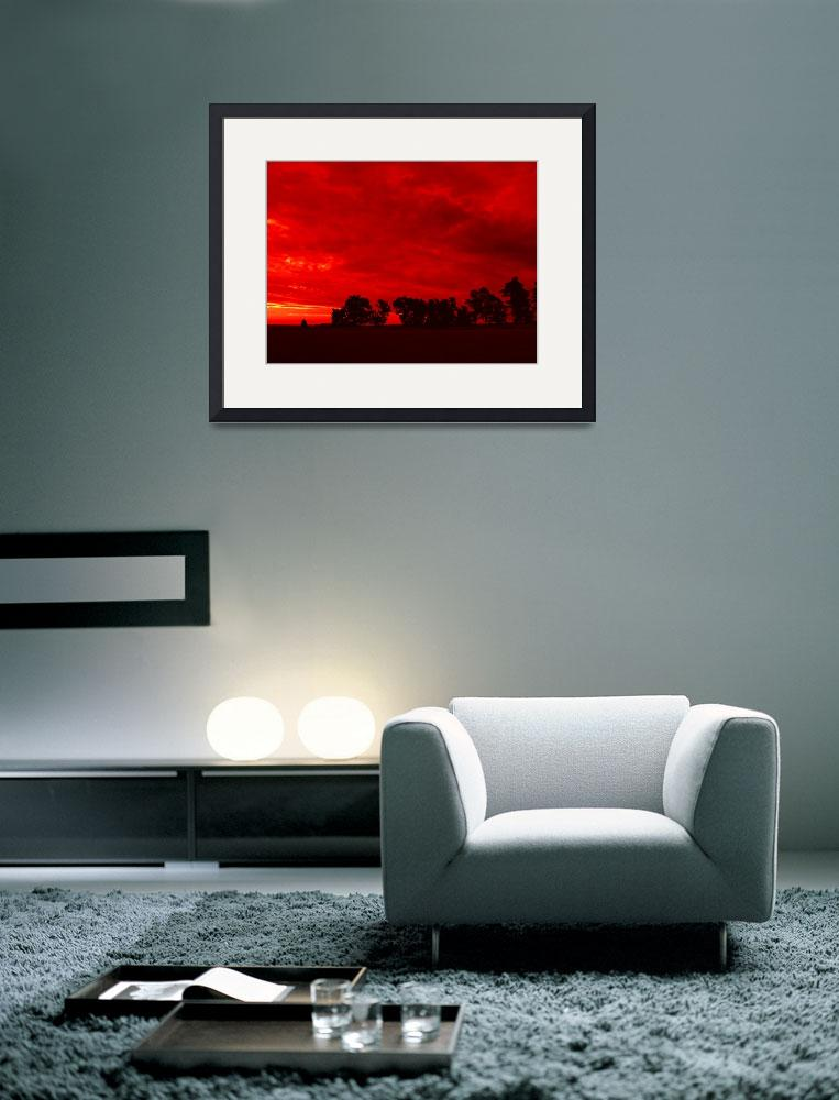 """""""Red Landscape&quot  (2007) by MAlexander"""