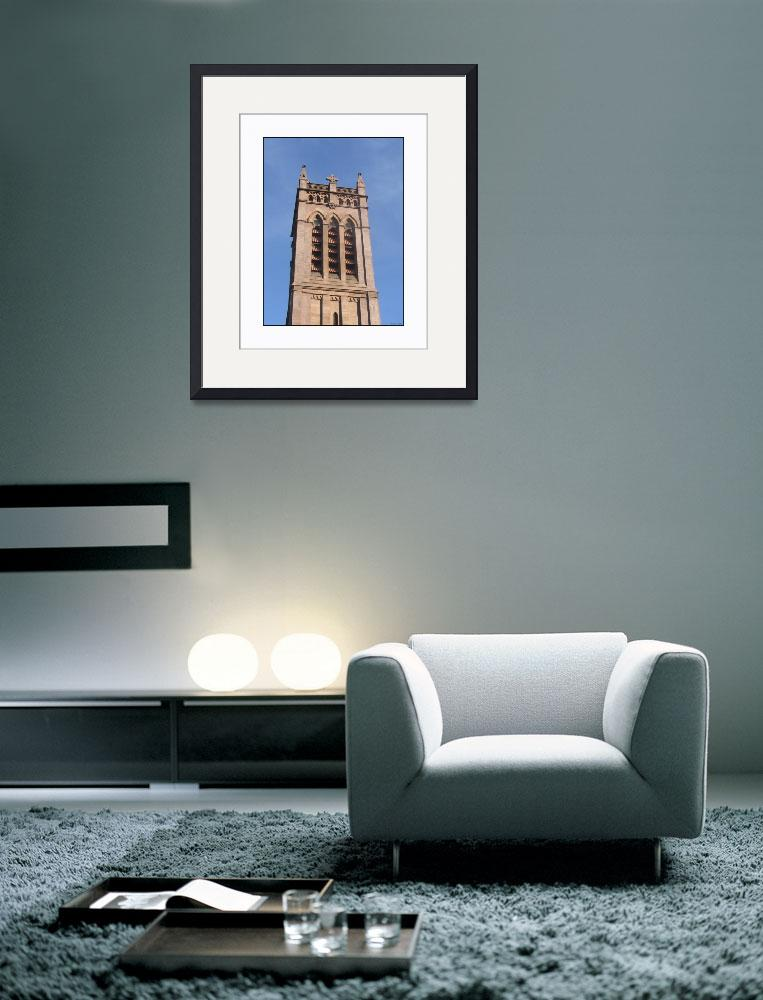 """""""Yale Brownstone Church Tower""""  (2010) by CuriousEye"""