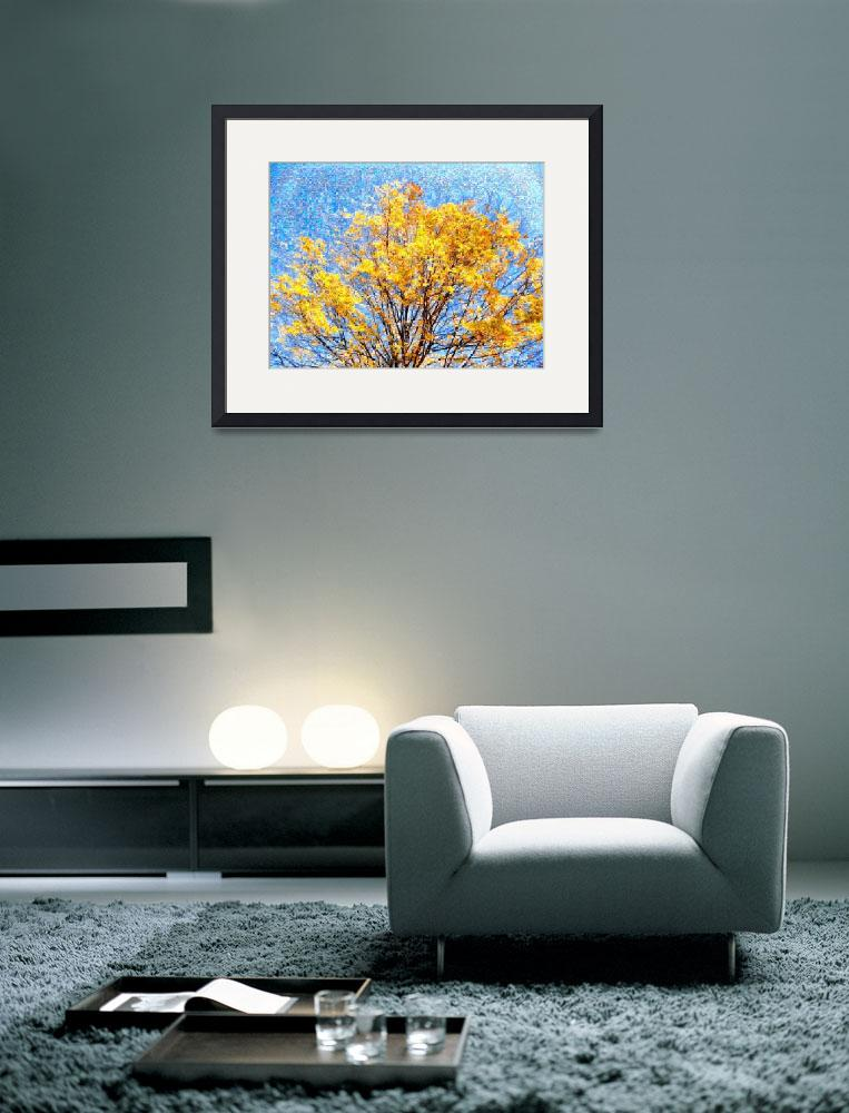 """""""Golden Leaves Foliage Photo Mosaic&quot  (2010) by LocalStockPhoto"""