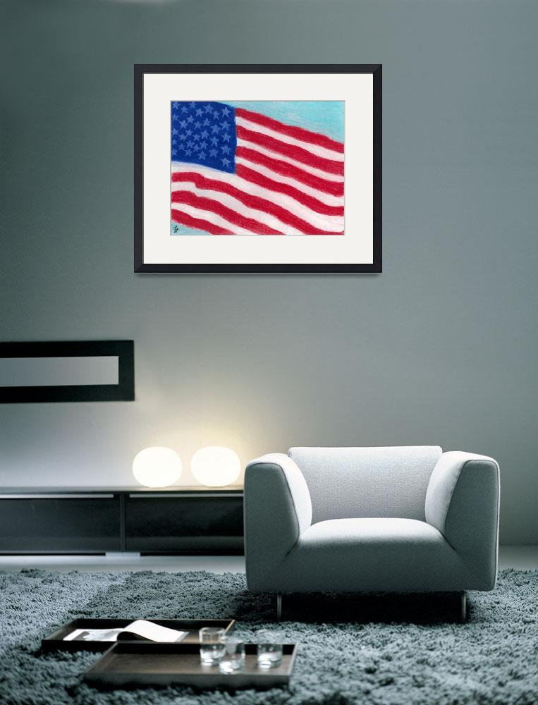 """""""United States Flag&quot  (2009) by fredtyre"""